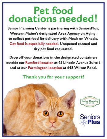 Poster for pet food drive